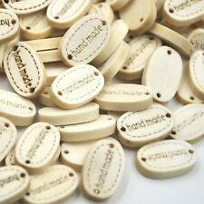 50/100pcs 19MM Handmade Wood Buttons 2 Holes Sewing Scrapbooking Crafts