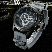 Male fashion silicone watch quartz watch movement big dial watches outdoor milit