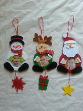 Xmas Christmas Photo Frame Tree Ornament Hanging Decorating