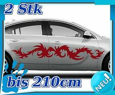2x Sides Tribal Car Sticker, Tuning Tribal, Racing Auto Sticker 2n272