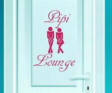 Door sticker 'Pipi Lounge' restroom toilet loo deco sticker door tattoo 3D255