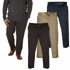 BIG SIZE MENS STRETCH CHINO /PANTS/TROUSER  WITH EXTENDA WAIST 38-60 S R L