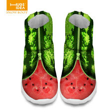 Casual Watermelon Women's Flat Slip On Thicken Boots Ankle Warm Snow Boots Shoes