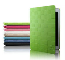 KAKU Grid Leather Smart Magnetic Stand Case Cover for Apple iPad 2 3 4 Mini Air