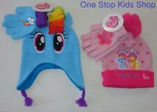 MY LITTLE PONY Girls Winter Set HAT & GLOVES Cap Beanie Mittens RAINBOW DASH