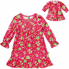 Dollie Me Girl 8-12 and Doll Matching Christmas Nightgown Clothes American Girls