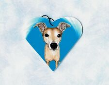 Greyhound Ornament Or Magnet Christmas Tree Decoration Heart Shape Dog Breeds