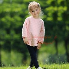 2PCS Girls Clothing Set Long Sleeve T-Shirt and Casual Pants Kids Winter Outfits