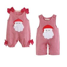 Baby Boy Christmas Santa Claus Costume Outfit Romper One Piece Size 000,00,0,1