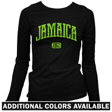 Jamaica Women's Long Sleeve T-shirt LS - New Kingston Spanish Town Reggae - S-2X
