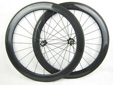 700c 60mm clincher full carbon fiber cycle bike wheelset for shimano bicycle
