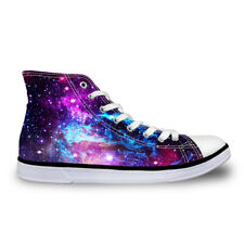Galaxy Fashion Womens Girls Lace-up High Top Shoes Sneakers Casual Canvas Shoes