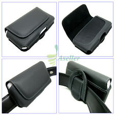 Compact Flip Horizontal Leather Belt Clip Loop Holster Case Pouch Cover SKin 4.5