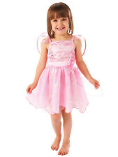 Girls Childs Christmas Party Fancy Dress Angel Snowflake Pink Toddler Costume