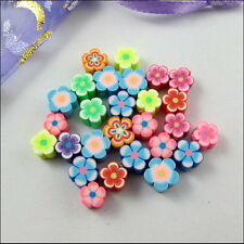 New Charms Mixed 6mm 8mm 10mm Mixed Polymer Fimo Clay Flower Star Spacer Beads