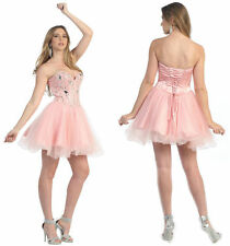 Homecoming Short Strapless Sweetheart Sequins Tulle Sassy Prom Cocktail Dress