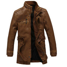 Men's Top Designed PU Leather Short Slim Fit Top Jacket Coat Outerwear Blazers