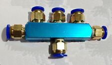 2-5 Way Air Hose 6mm Push in Quick Coupler Connector Manifold Block Splitter