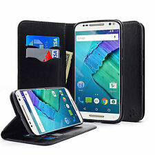 Flip Case for Motorola Moto X Pure/X Style Phone PU Wallet Cover and Stand