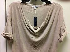 James Perse womens wxt3470cu camel color tan beige top blouse sz loose nice gift