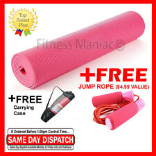 """Authentic Non-Slip Durable Yoga Mat Exercise Pad Sport Fitness 68"""" x 24"""" Pink"""
