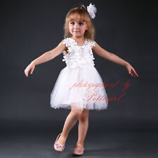 Kids Flower Girl Princess Dress Party Pageant Wedding Bridesmaid Tutu Dresses