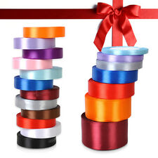 25 Yards Satin Ribbon Wedding Craft Sewing Decorations Many 12 Colors wholesale