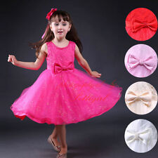 Wedding Party Formal Flower Girls Dress Toddler Kids baby Xmas Pageant dresses