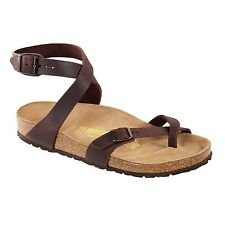 Birkenstock Oiled Leather Yara $179.95rrp Habana Brown NARROW BNIB