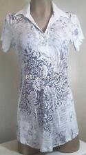 Womens Maternity Shirt Top White Paisley Print Cap Sleeve Blouse Size S M L New
