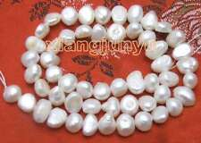 "SALE 6-7mm Natural White Freshwater BAROQUE Pearl Loose Beads 14""-los405"
