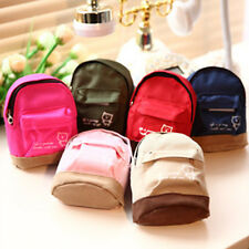 Mini Small Cute Women Lady Girl Pouch Coin Purse Backpack Canvas Bag Wallet SP