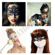 Black Lace Eye Mask Party Dress Night Club Masquerade Fancy Dress Ball