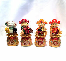 Chinese Feng Shui Lucky Cat & Money God Display Ornament Wealth, Fortune & Lucky