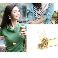 Hot Sell All-Match Charm 3D Big Hollow Peach Heart Long Chain Sweater Necklace