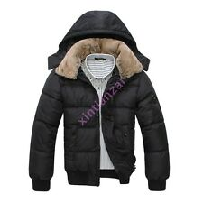Mens Winter warm Down Cotton Coat Outerwear Hooded Parka Short Coat Jackets NEW