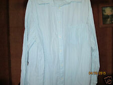 EIGHTY EIGHT  Mens SizeXL  Dress Shirt  BLUE AND BLUE  PIN  STIPES