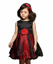 Flower Tulle Girls Dress Princess Wedding Bridesmaid Party Baby Kids Communion