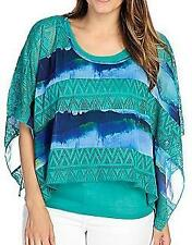 NEW One World Woven Knit Combo Scoop Neck Cape w/ Attached Tank - Sz. S, M, L