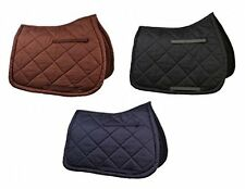 HYSPEED QUILTED SADDLE CLOTH FOR HORSES COTTON QUILITED 2 SIZES & 3 COLOURS