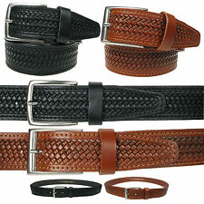 40mm Mens High Quality Patterned Real Leather Italian Belt Made In Italy 010/40