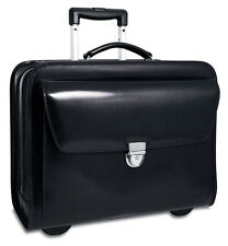 Jack Georges Elements Collection Rolling Laptop Leather Briefcase