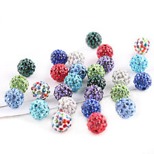 20Pcs Czech Crystal Rhinestones Pave Clay Round Disco Ball Spacer Beads 6-12mm