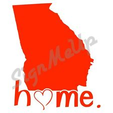 """I Love Georgia State Home Decal 5x6"""" Vinyl Window Sticker for Car **20 COLORS!**"""