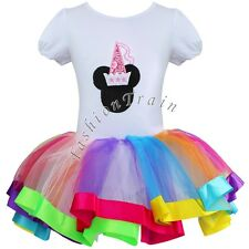 Girls Baby Toddler Minnie Mouse Ballet Tutu Dress Costume Birthday Party Outfits