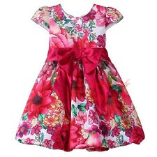 Toddlers Flower Bow Girl Dresses Party Dance Formal Gown Pageant Birthday Dress
