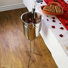 Champagne Bucket Folding Stand Stainless Steel Bucket Holder Ice Bucket Stand