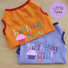 Happy Birthday Puppy Dog Cat Cute Shirt Dress Clothes Costume Jumper