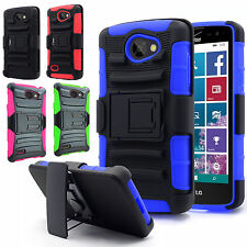 Rugged Hybrid Armor Holster Belt Clip Hard Case Cover Stand For LG Lancet VW820