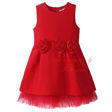 Children Kids Flower Girl Dress Toddler Baby Wedding Birthday Party Formal Dress